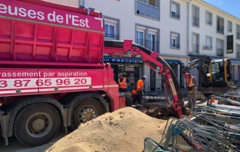 Camion Aspirateur : Dégagement de réseaux d'assainissement
